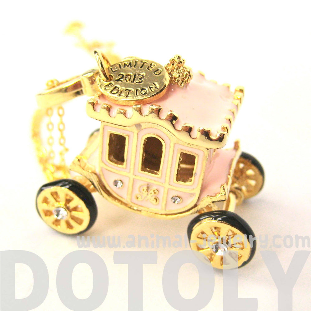 Cinderella Fairytale Horse Carriage Pendant Necklace | Limited Edition