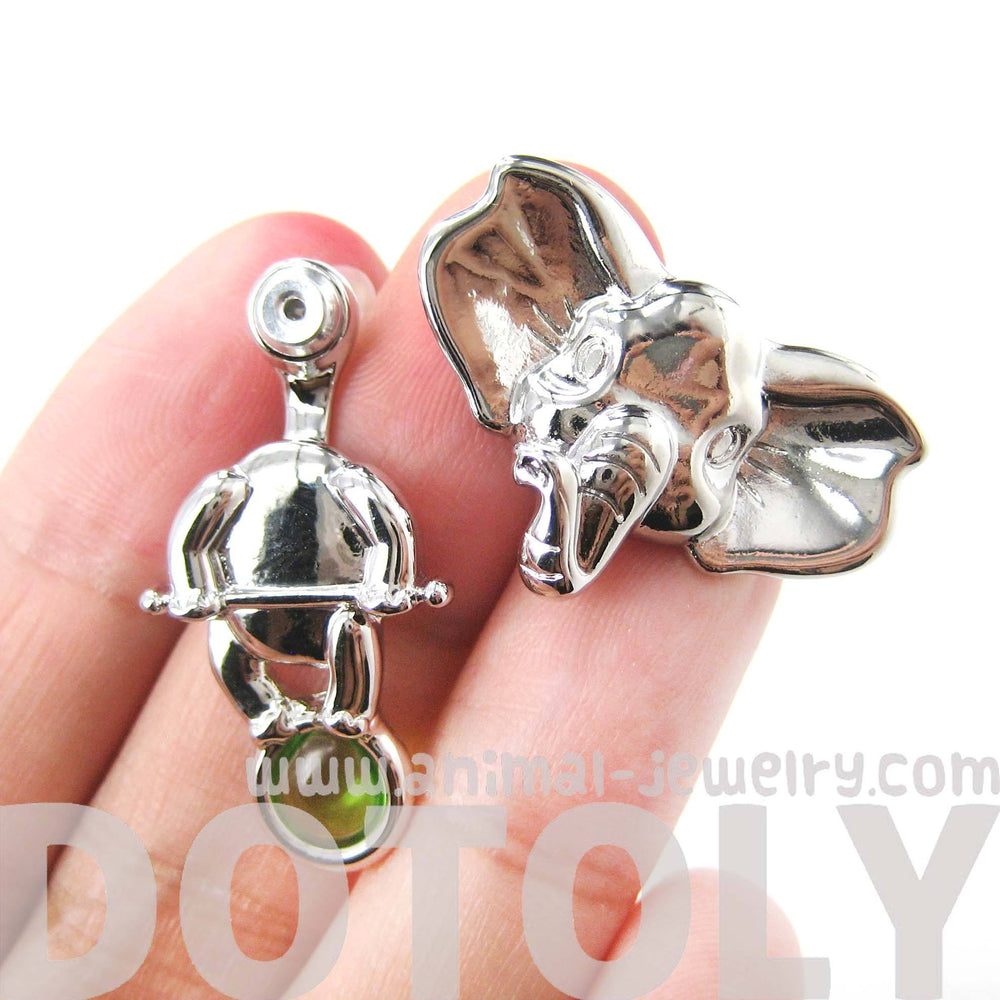 circus-elephant-animal-two-part-stud-earring-in-silver-animal-jewelry