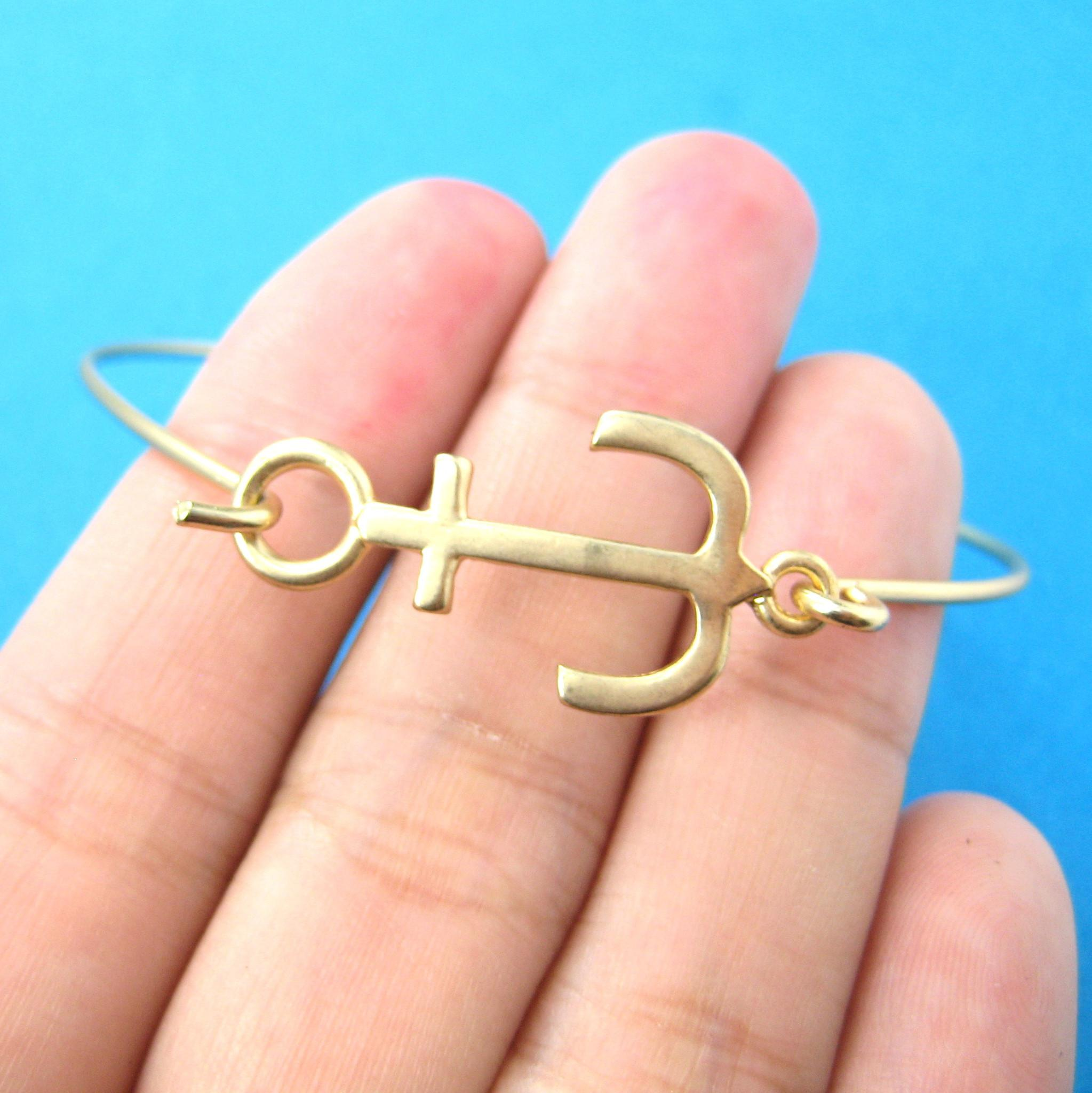 classic-anchor-shaped-charm-thin-gold-bangle-bracelet-dotoly