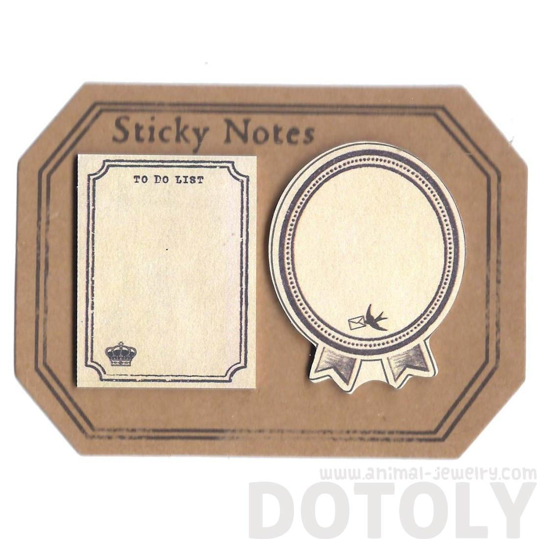Classic Vintage Frames Shaped To Do List Sticky Post-it Memo Note Pad