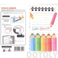 Art Color Pencils Shaped Memo Pad Post-it Index Sticky Bookmark Tabs