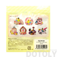Colorful and Pretty Parakeet Shaped Flake Seal Sticker Pack From Japan