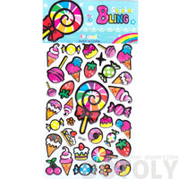 Colorful Candies Sweets Ice Cream Lollipop Shaped Food Themed Stickers