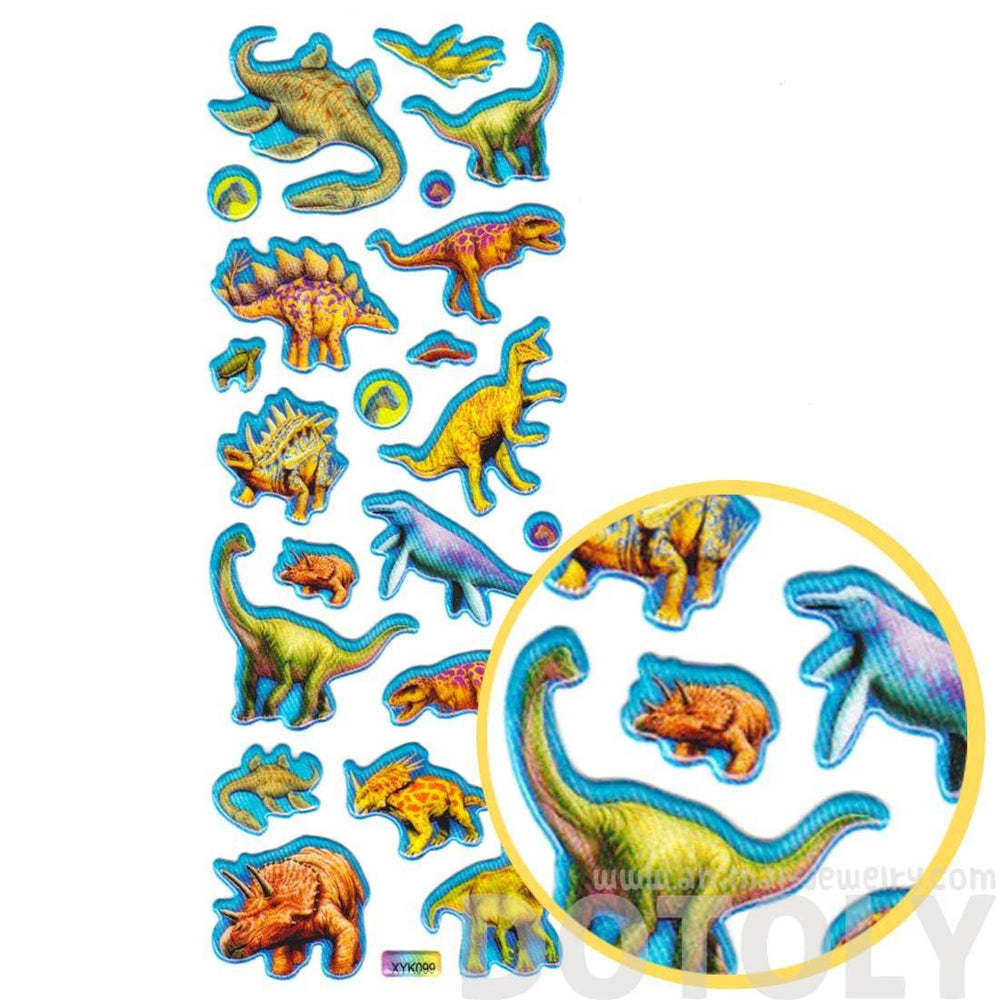 Dinosaur Triceratops Stegosaurus Shaped Prehistoric Animal Stickers