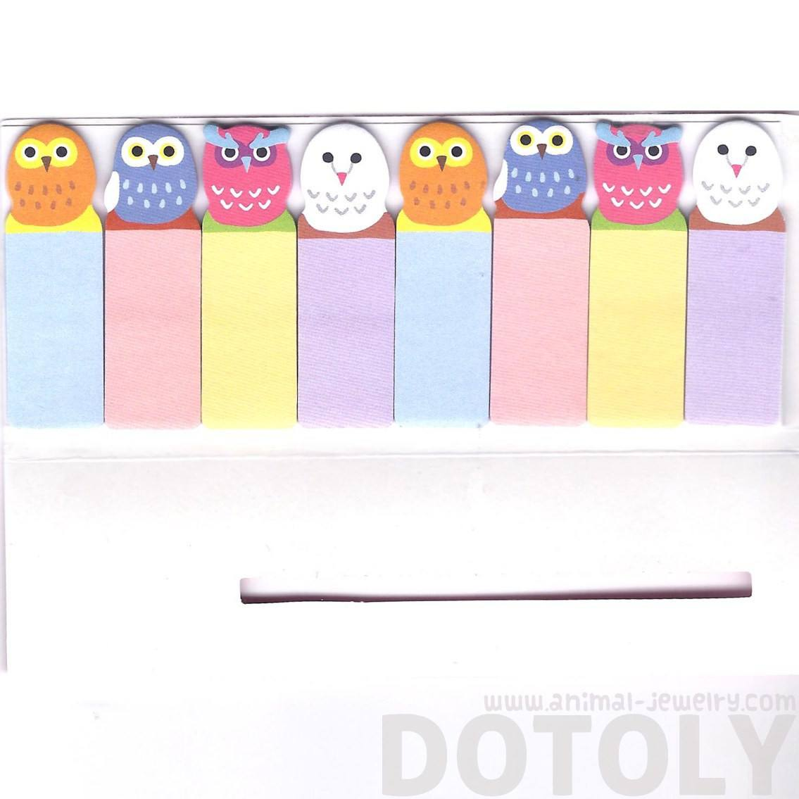 Colorful Owl Bird Shaped Animal Sticky Memo Post-it Index Bookmark Tab