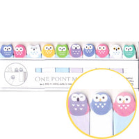 Tiny Owl Birds Shaped Animal Themed Sticky Post-it Memo Bookmark Tabs