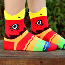 colorful-parrot-bird-shaped-animal-short-cotton-socks-for-women