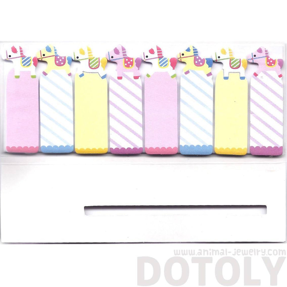 Colorful Pony Horse Shaped Animal Themed Memo Post-it Bookmark Tabs