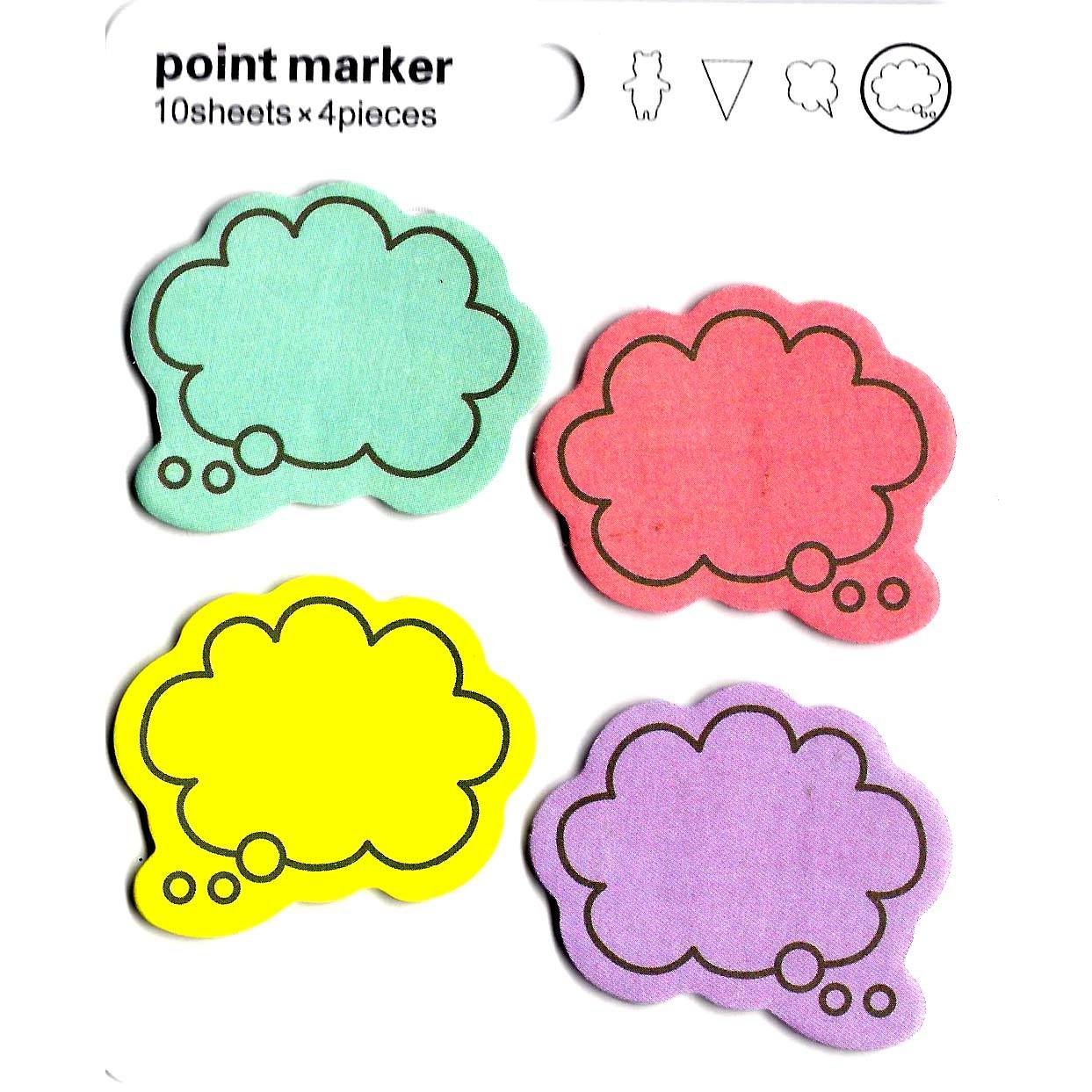 Colorful Speech Bubble Outline Shaped Memo Sticky Post-it Notes