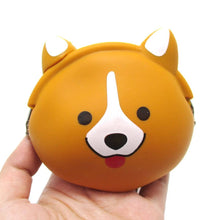 Corgi Dog Face Shaped Mimi Pochi Animal Friends Silicone Clasp Coin Purse Pouch