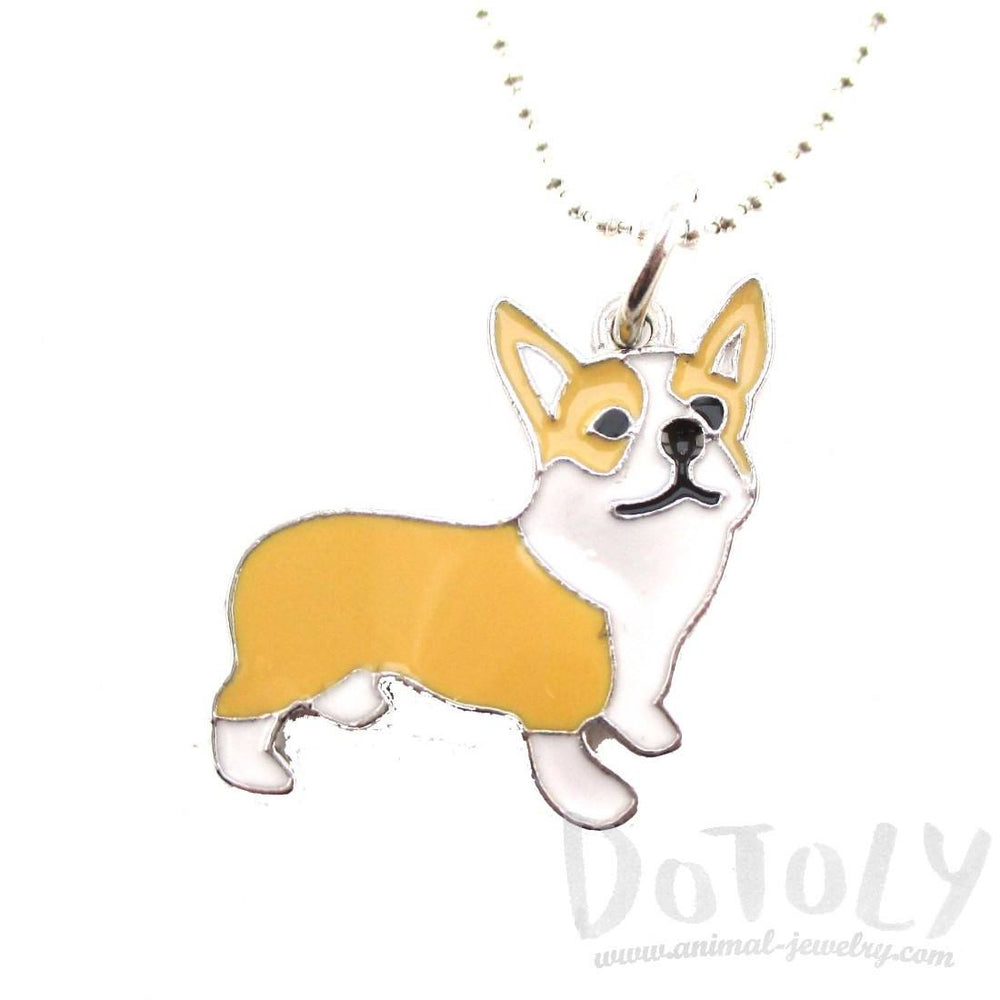 Corgi Puppy Dog Shaped Animal Pendant Necklace | DOTOLY