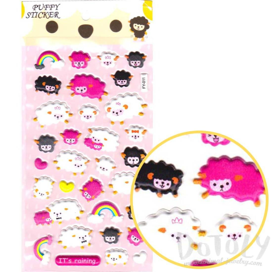 Counting Sheep Shaped Animal Themed Stickers for Kids