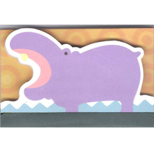 Cute Hippo Hippopotamus Animal Shaped Memo Lined Notepad | 80 Pages
