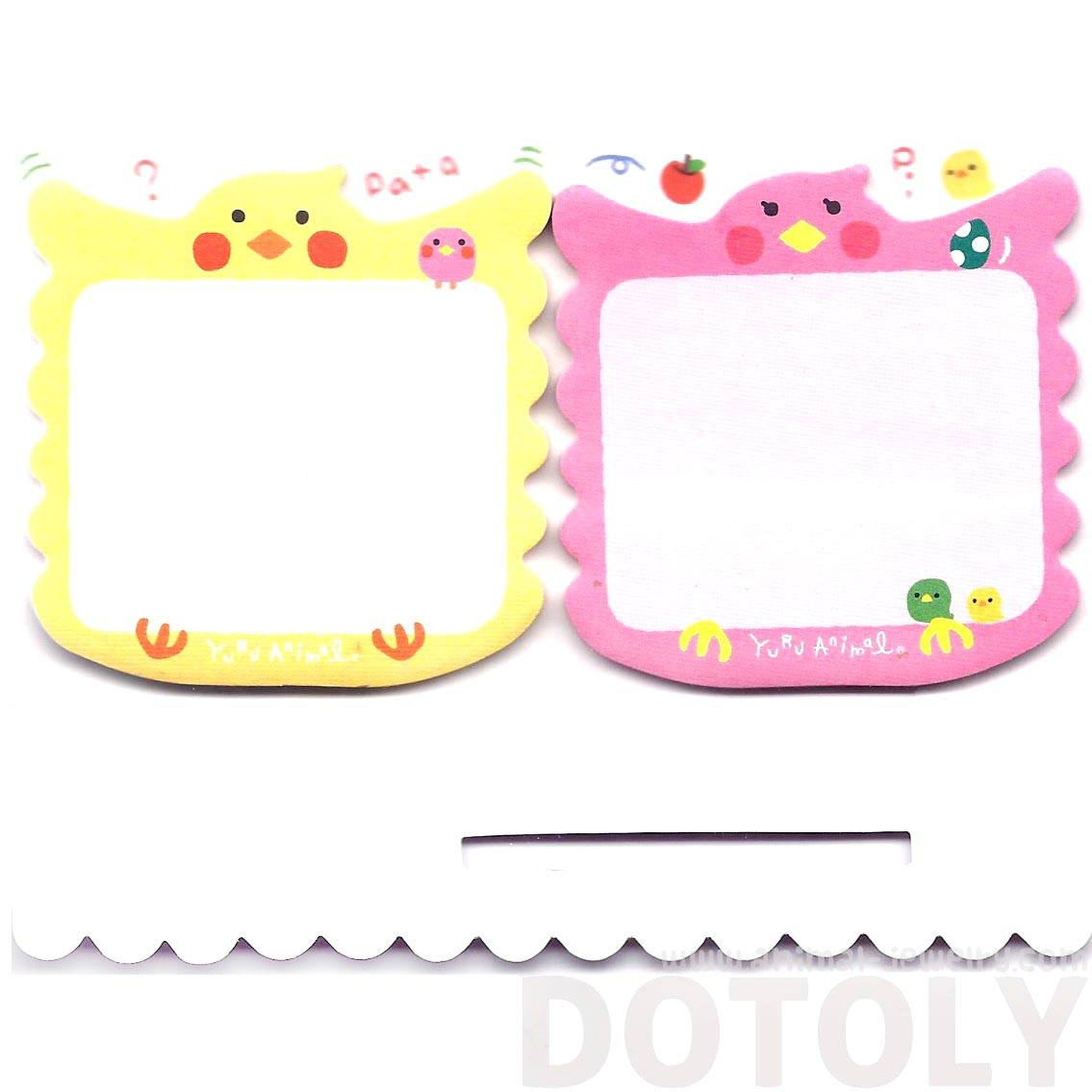 Cute Parakeet Parrot Bird Shaped Animal Sticky Post-it Memo Note Pads