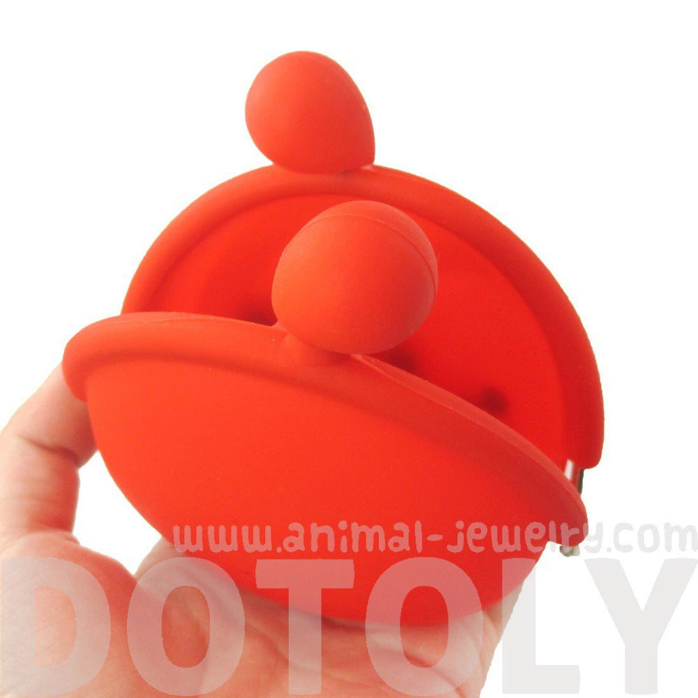 Cute Red Nemo Fish Shaped Animal Friends Silicone Clasp Coin Purse