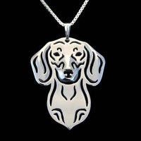 Dachshund Puppy Cut Out Dog Shaped Pendant Necklace