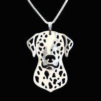 Dalmatian Puppy Dog Cut Out Shaped Pendant Necklace