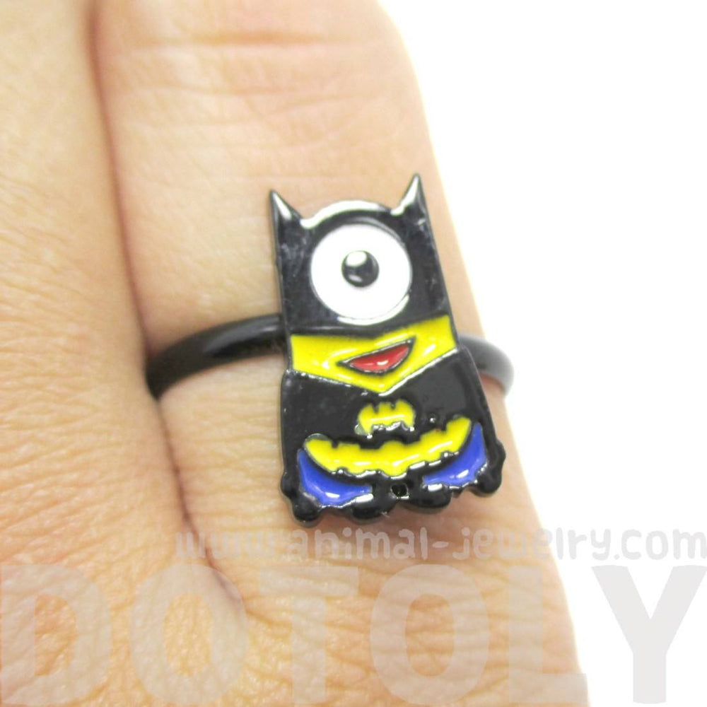 DC Comics Minion Batman Despicable Me Inspired Ring