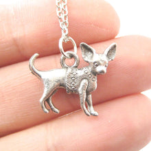 Chihuahua Toy Puppy Dog in Sweater Shaped Charm Necklace | MADE IN USA