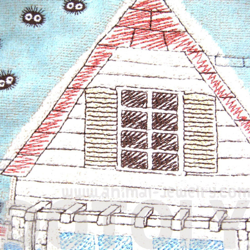 Detailed My Neighbor Totoro Embroidered House Handkerchief Face Towel