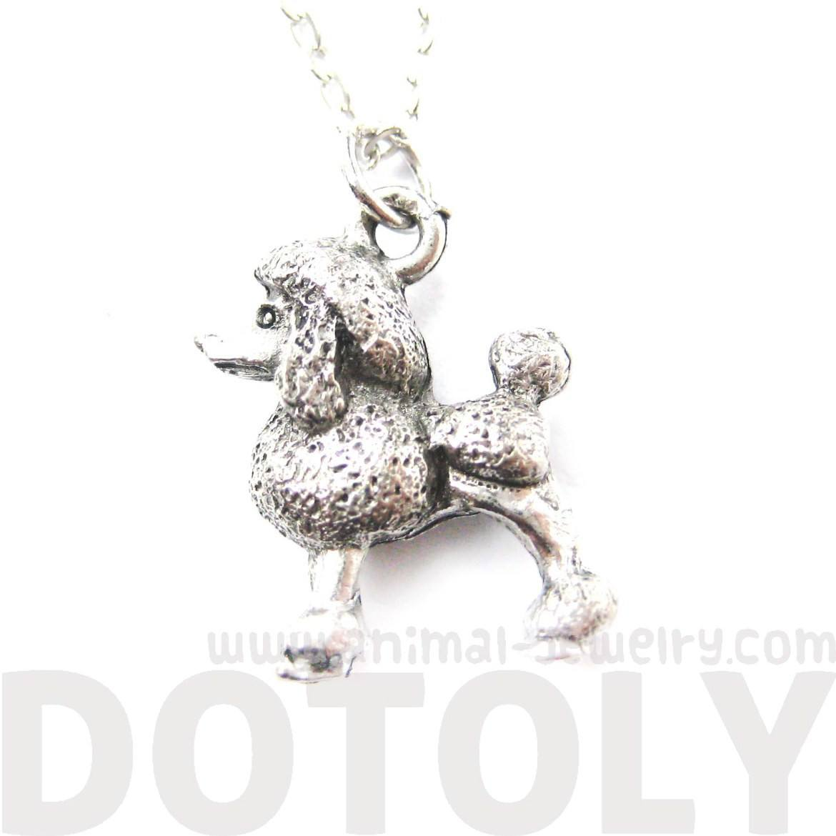 Detailed Toy Poodle Puppy Dog Shaped Charm Necklace | MADE IN USA