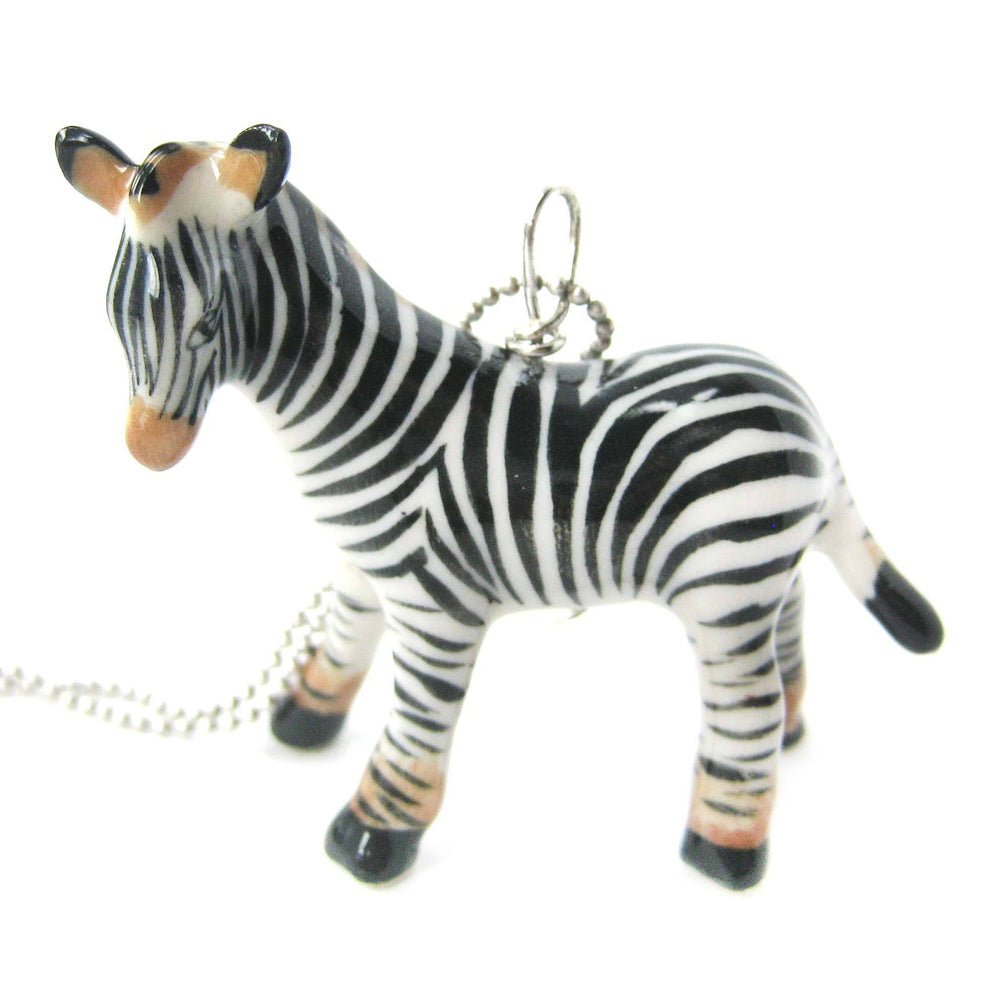 detailed-zebra-porcelain-ceramic-animal-pendant-necklace-handmade