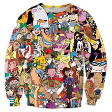 Dexter Rugrats Animaniacs 90's Cartoon Collage Sweater