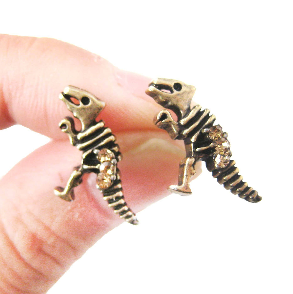 dinosaur-fossil-shaped-stud-earrings-in-brass-with-rhinestones-dotoly