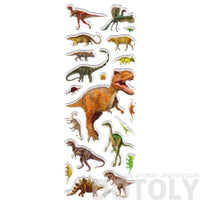 Dinosaur T-Rex Sauropods Raptors Shaped Prehistoric Animal Stickers