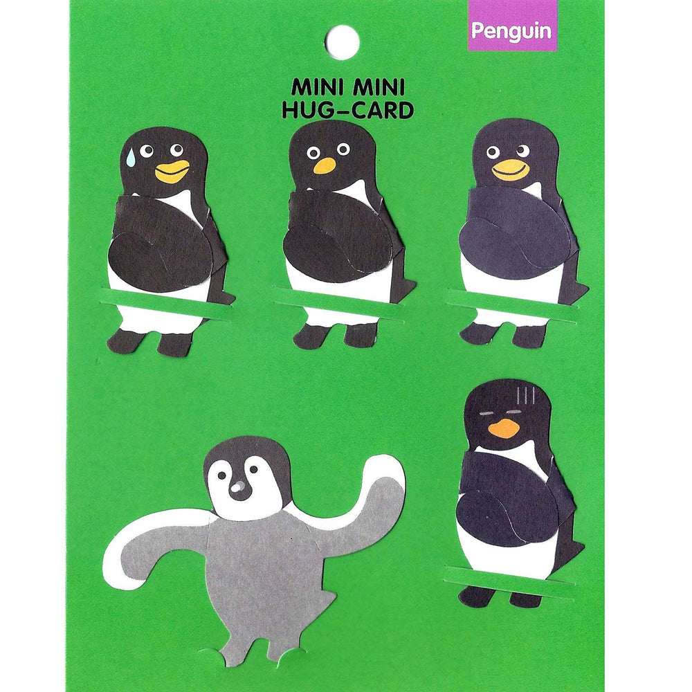 dorky-penguin-bird-shaped-mini-animal-hug-gift-tag-card-set-dotoly