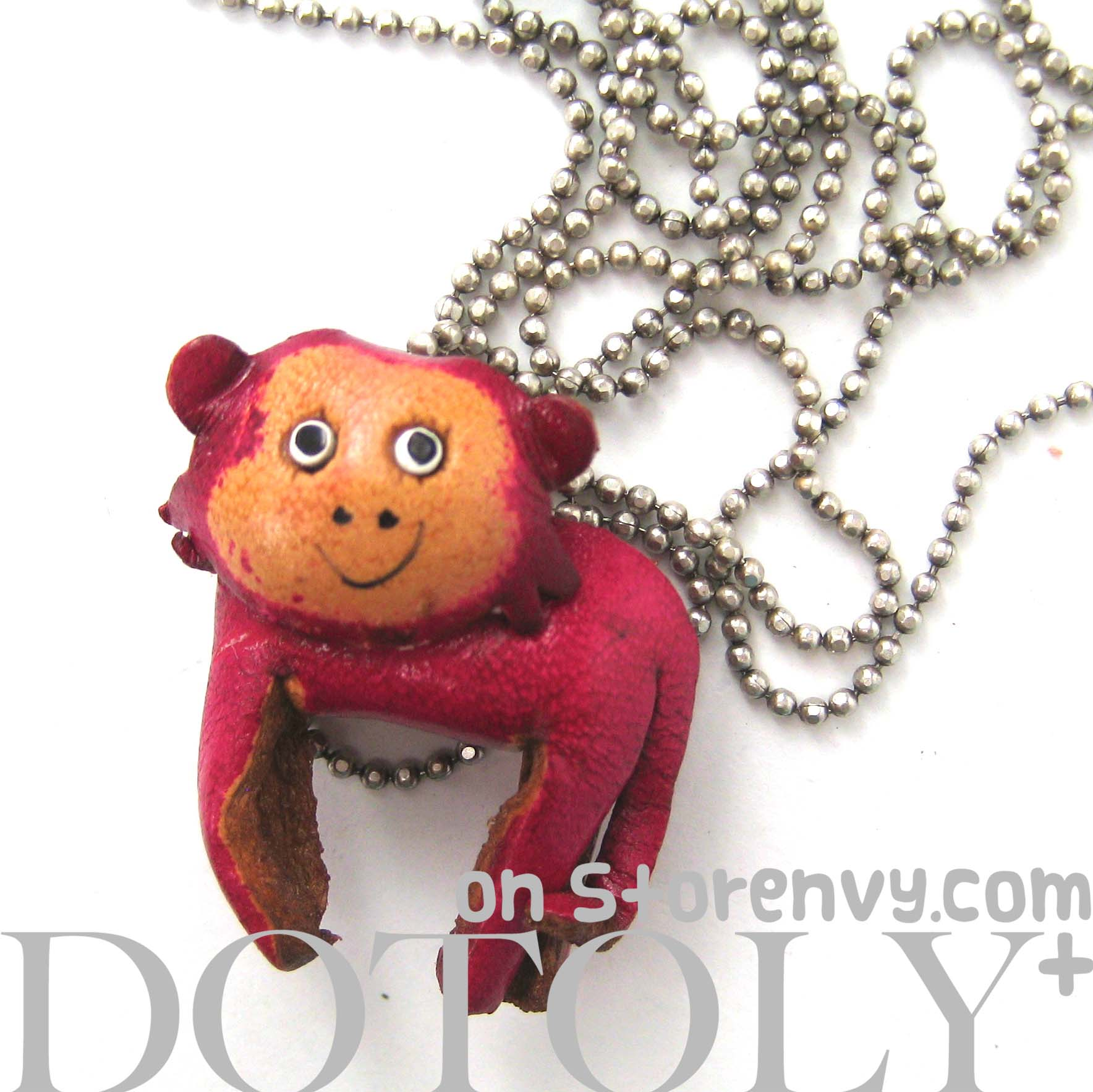 faux-leather-cute-monkey-animal-charm-necklace-with-mobile-strap