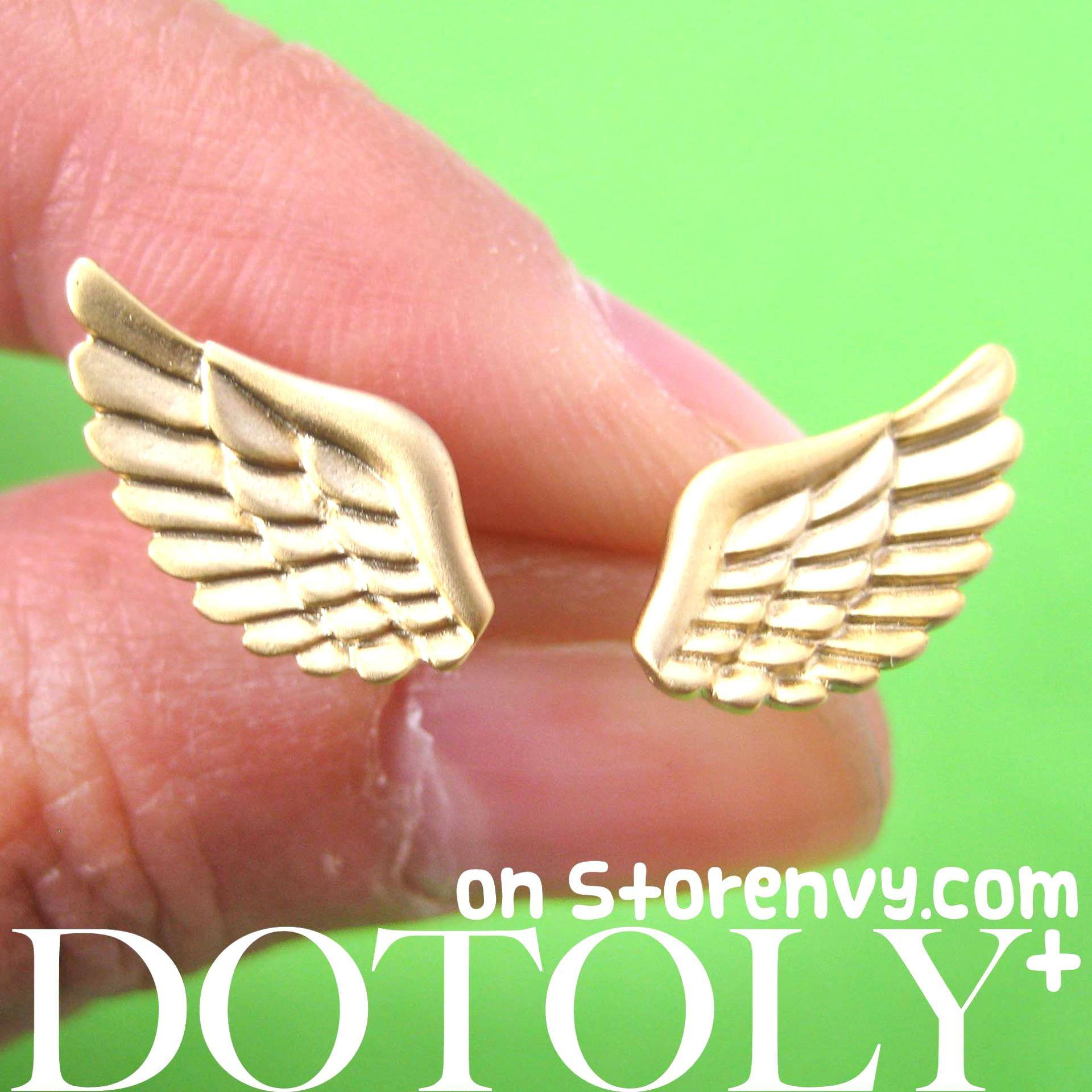 angel-wings-feather-shaped-stud-earrings-in-gold