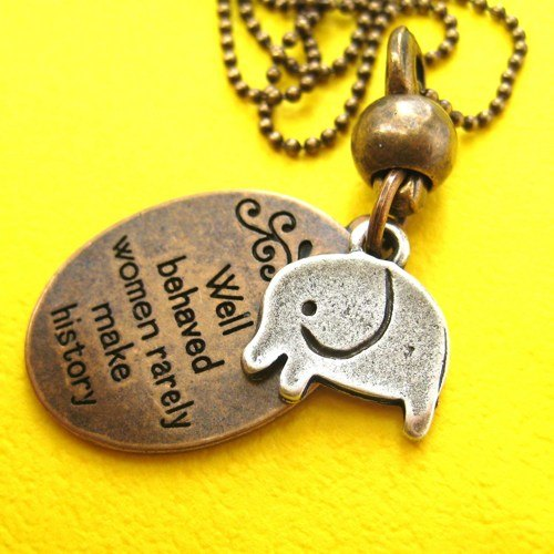 elephant-cute-animal-round-pendant-necklace-in-bronze-with-quote