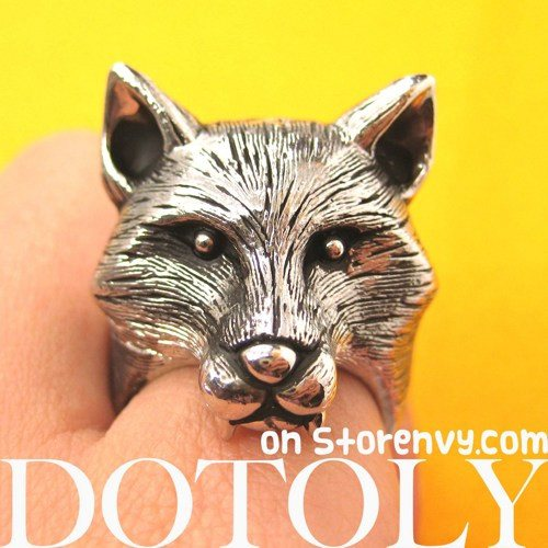 3d-adjustable-fox-werewolf-animal-ring-in-shiny-silver-with-fur-detail