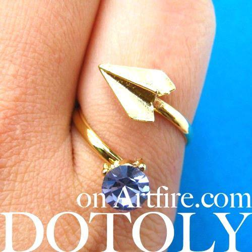 adjustable-paper-airplane-origami-ring-in-gold-with-rhinestone-detail