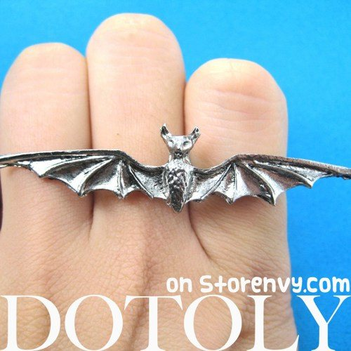 adjustable-bat-double-duo-finger-animal-ring-in-silver