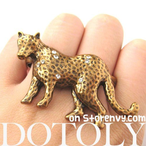 realistic-unique-leopard-cat-animal-double-duo-finger-ring-in-bronze