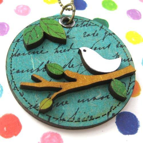 ink-on-wood-dove-bird-animal-pet-on-a-branch-pendant-necklace-in-green