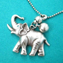 cute-simple-elephant-animal-pendant-necklace-in-silver-with-bell