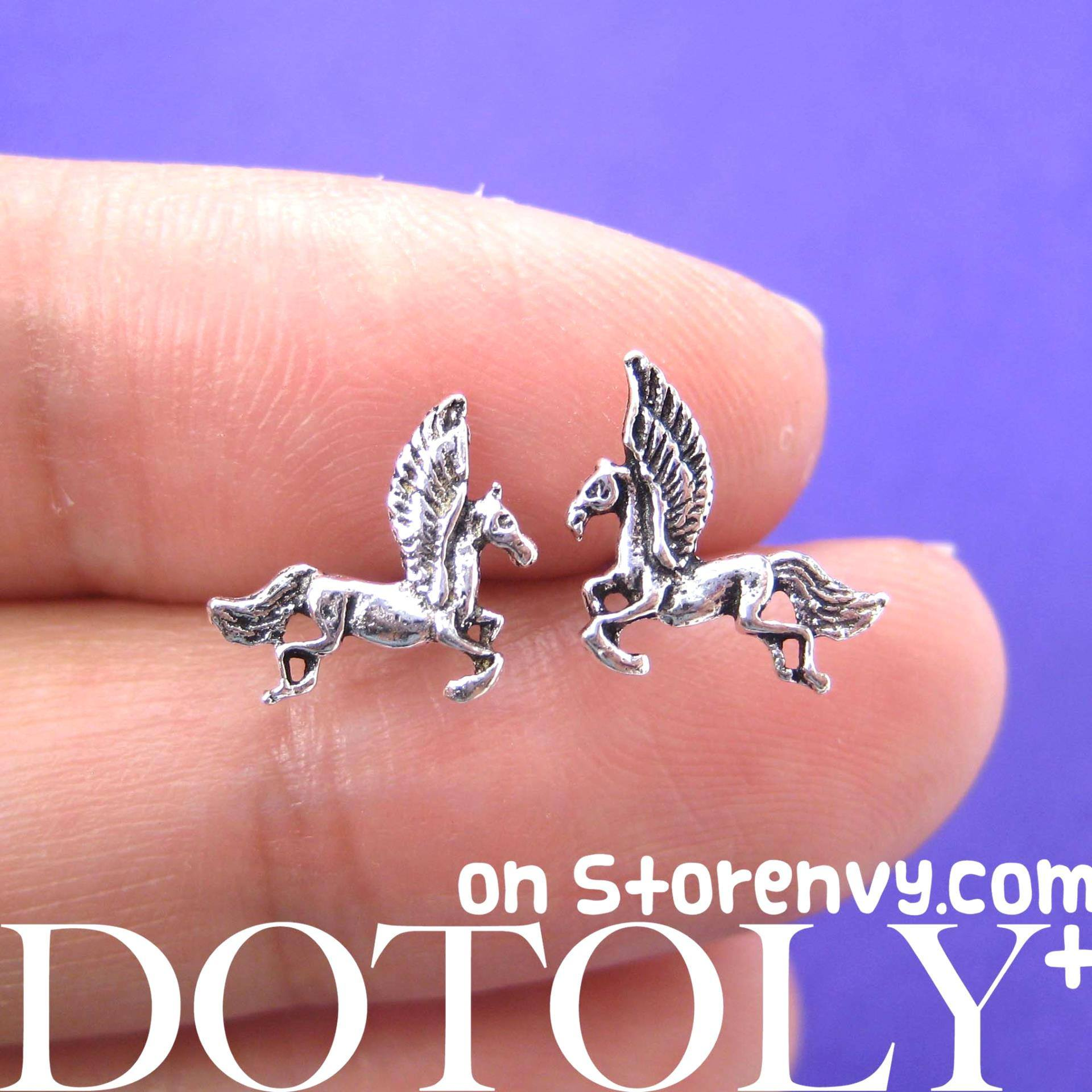small-unicorn-horse-animal-stud-earrings-in-sterling-silver