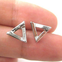 simple-small-geometric-triangular-stud-earrings-in-silver