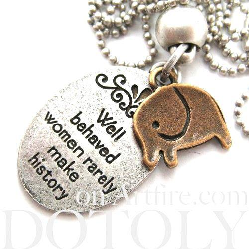 elephant-cute-animal-round-pendant-necklace-in-silver-with-quote