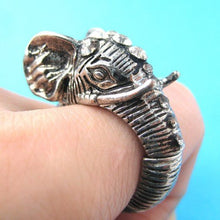 adjustable-elephant-realistic-animal-ring-in-silver