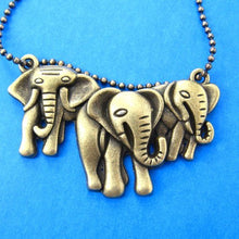 cute-elephants-animal-charm-necklace-in-bronze