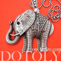 large-detailed-elephant-animal-charm-necklace-in-silver