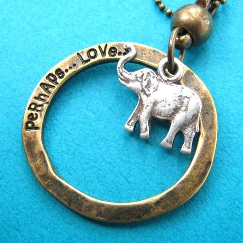 elephant-animal-hoop-pendant-necklace-in-silver-on-bronze