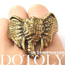 realistic-unique-elephant-animal-double-duo-finger-ring-in-bronze