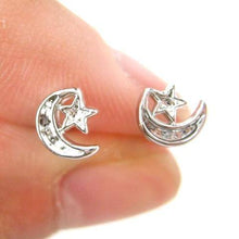 small-moon-and-stars-shaped-stud-earrings-non-allergenic-plastic-post