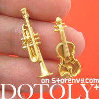 miniature-guitar-trumpet-music-instrument-stud-earrings-in-gold-with-sterling-silver-posts