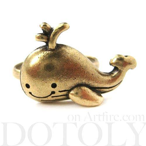 adjustable-cute-whale-sea-animal-ring-in-bronze